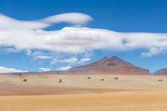 Пустыня Dali в Altiplano Боливии стоковое изображение rf