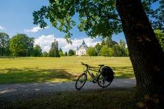 путешествовать велосипеда Toscanapark, Gmunden, Австрия стоковая фотография