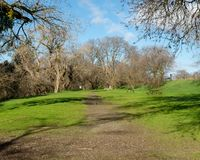 Путь на riparian заповеднике в Davis стоковая фотография