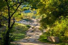путь холма вверх стоковое изображение rf