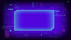 Пурпурное hud показывает элементы интерфейса бесплатная иллюстрация