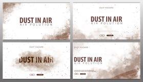 Пыль в воздухе Опасность пыли Загрязнянный воздух также вектор иллюстрации притяжки corel иллюстрация штока