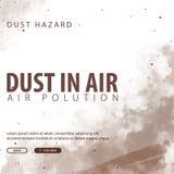 Пыль в воздухе Опасность пыли Загрязнянный воздух также вектор иллюстрации притяжки corel иллюстрация вектора