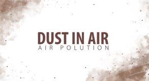 Пыль в воздухе Опасность пыли Загрязнянный воздух также вектор иллюстрации притяжки corel бесплатная иллюстрация