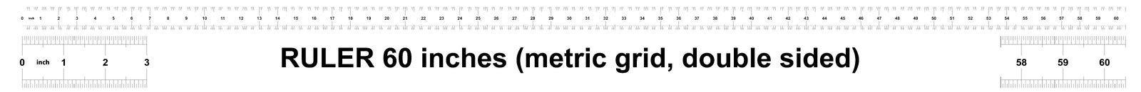 Правитель 60 дюймов метрический Цена разделения 0 05 дюймов Двойник правителя встал на сторону Точный измеряя инструмент Решетка  иллюстрация вектора