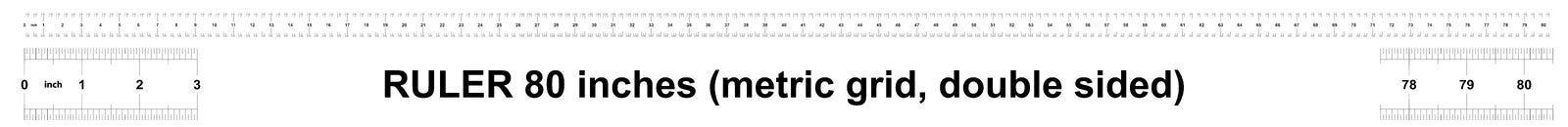 Правитель 80 дюймов метрический Цена разделения 0 05 дюймов Двойник правителя встал на сторону Точный измеряя инструмент Решетка  иллюстрация штока