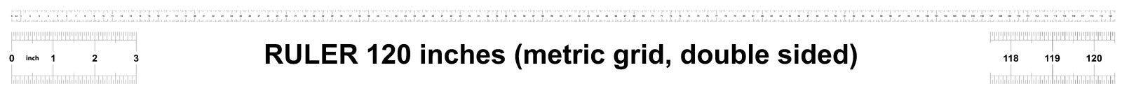 Правитель 120 дюймов метрический Цена разделения 0 05 дюймов Двойник правителя встал на сторону Точный измеряя инструмент Решетка иллюстрация вектора