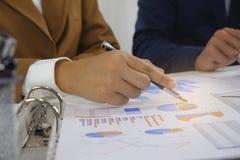 Предприниматели встречая идею дизайна, профессиональный инвестора работая в офисе для проекта начала вверх нового стоковое изображение