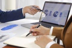 Предприниматели встречая идею дизайна, профессиональный инвестора работая в офисе для проекта начала вверх нового стоковая фотография