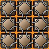 Предпосылка вектора геометрическая с картиной колец и квадратных плиток решетки безшовной иллюстрация штока