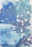 Предпосылка выплеска акварели абстрактной руки бирюзы вычерченная Крася stylefish текстуры Цвета градиента Splot splah дождя иллюстрация штока