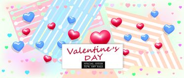 Предпосылка продажи дня Валентайн с вектором сердец бесплатная иллюстрация