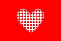 Предпосылка дня ` s Валентайн Украшенное сердце которое отрезано вне от красной предпосылки бесплатная иллюстрация