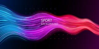 Предпосылка спорта скорости или ультрамодная звуковая война стоковые изображения