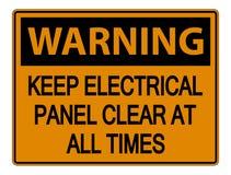 предупреждение символа держит знак электрической панели ясный во все времена на белой предпосылке бесплатная иллюстрация