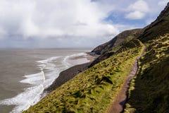 Прибрежный путь, omerset, Англия, Великобритания стоковые фото