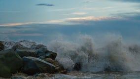 Прибой моря на береговой линии стоковая фотография rf