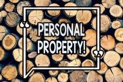 Примечание сочинительства показывая личное свойство Владелец частного лица имуществ владениям пожитков фото дела showcasing дерев стоковые изображения rf