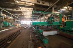 принципиальная схема промышленная Обзор на строительной площадке внутри помещения Изготовляя плита стоковые фотографии rf