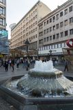 Принц Майкл Улица улицы Knez Mihailova в центре города Белграда, Сербии стоковая фотография