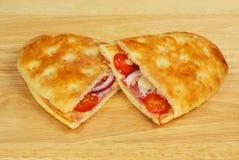 Провозглашанные тост закуски focaccia стоковые фотографии rf