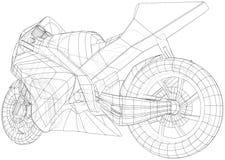 Провод-рамка мотоцикла спорта техническая Форма EPS10 Вектор созданный 3d бесплатная иллюстрация