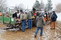 Продажа грязи Lancaster County Амиша стоковые фотографии rf