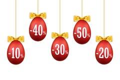 Продажа 3D пасхального яйца Счастливая предпосылка яя пасхи вися изолированная шаблоном белая 10, 20, 30, 40, 50 процентов  Конст иллюстрация штока