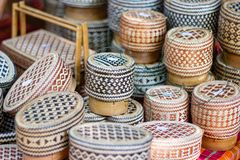 Продукты общины сплетя basketry плетеной корзины, продукты корзины плода Handmade стоковое фото
