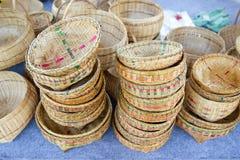 Продукты общины сплетя basketry плетеной корзины, продукты корзины плода Handmade стоковые фото