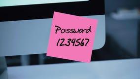 Простой, легкий пароль qwerty обеспеченность монитора иллюстрации компьютера 3d Рубить счета иллюстрация вектора