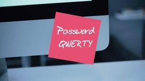 Простой, легкий пароль qwerty обеспеченность монитора иллюстрации компьютера 3d Рубить счета иллюстрация штока