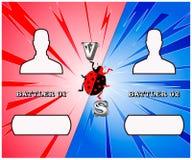 Против battler экрана бесплатная иллюстрация