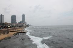 Побережье Шри-Ланка Коломбо стоковые фото