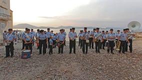 Пожарная команда St Tropez оркестра стоковая фотография