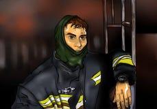 Пожарный Stock Photo