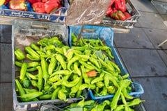 Позеленейте перцы chili стоковая фотография rf
