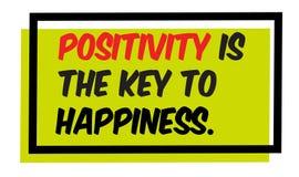 Позитивность ключ к цитате мотивации счастья иллюстрация вектора