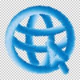 Пойдите к вектору значка сети знака сети EPS10 иллюстрация штока