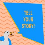 Показ примечания сочинительства говорит ваш рассказ Фото дела showcasing выражающ ваши чувства повествующ запись вашу иллюстрация вектора