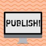 Показ примечания сочинительства опубликовывает Showcasing фото дела делает доступную информацию к показывать вопросу написанный п иллюстрация штока