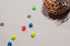 Покрашенные шарики гидрогеля стоковая фотография