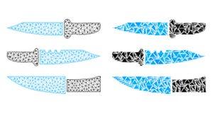 Полигональные ножи сетки туши и значок мозаики бесплатная иллюстрация