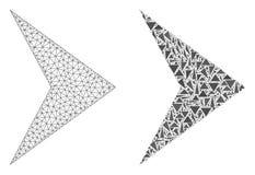 Полигональные 2D правильное направление сетки и значок мозаики иллюстрация штока