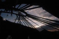 Получившаяся отказ Средняя Азия yurt стоковая фотография rf