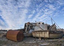 Получившиеся отказ шлюпки на гавани Gustavus стоковое изображение rf