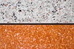 Пол и картина и цвет стены отполированные камень мрамора и гранита поверхности Terrazzo каменные, материал для предпосылки украше стоковые изображения rf