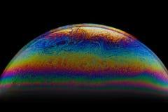 Половинная предпосылка конспекта шарика пузыря мыла Модель вселенной космоса или планет космической стоковое фото