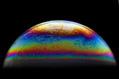 Половинная предпосылка конспекта шарика пузыря мыла Модель вселенной космоса или планет космической стоковое изображение