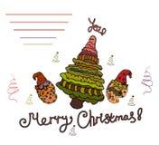 Помечать буквами ниже от рождества поздравлениям веселого там место для вашего текста Предпосылка бела стоковое изображение